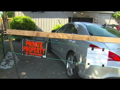 Seattle man fences in Car2Go vehicle parked in driveway