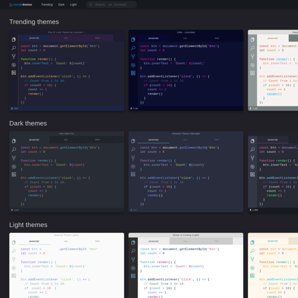 VSCodeThemes - Preview Visual Studio Code Themes.