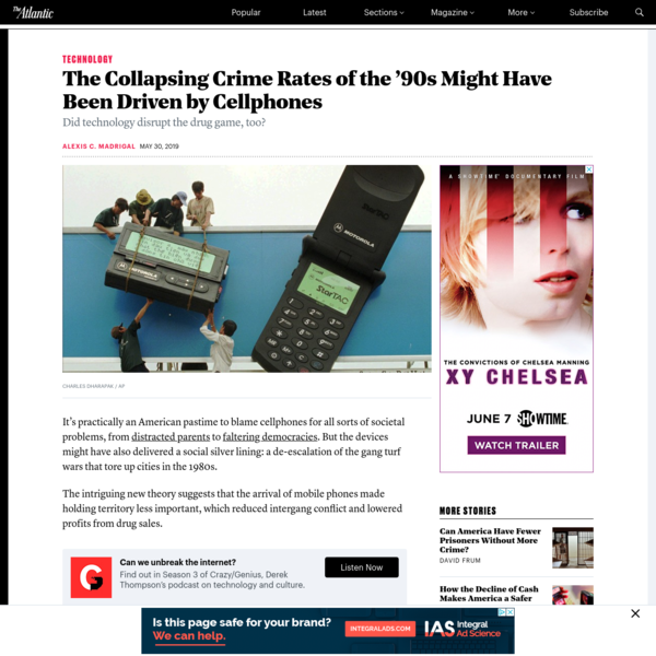 The Collapsing Crime Rates of the '90s Might Have Been Driven by Cellphones