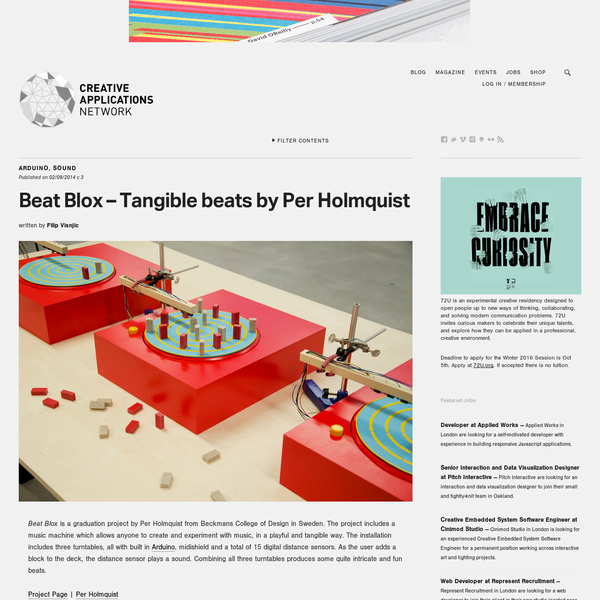Beat Blox - Tangible beats by Per Holmquist