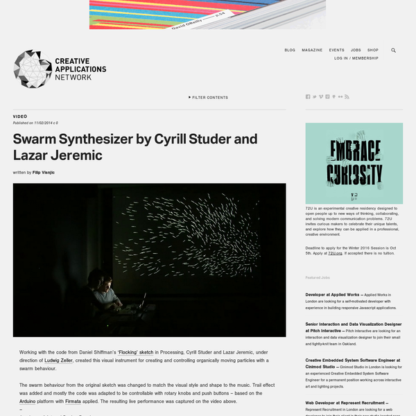 Swarm Synthesizer by Cyrill Studer and Lazar Jeremic