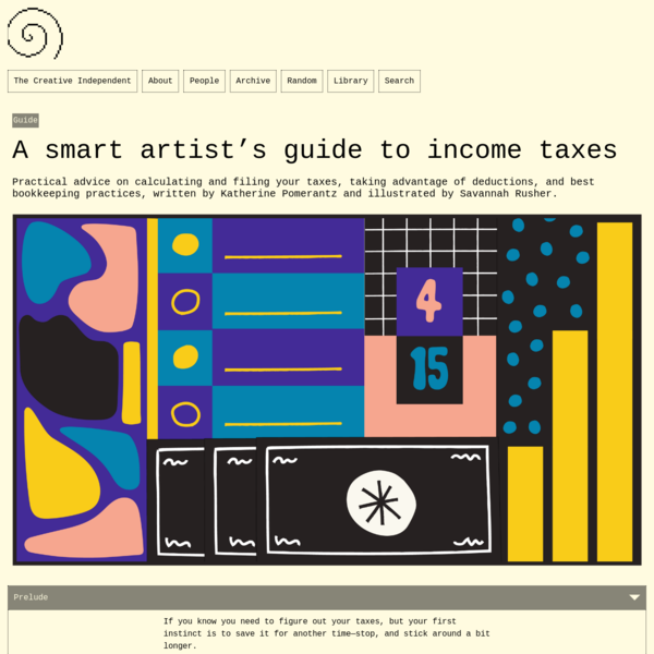 A smart artist's guide to income taxes – The Creative Independent