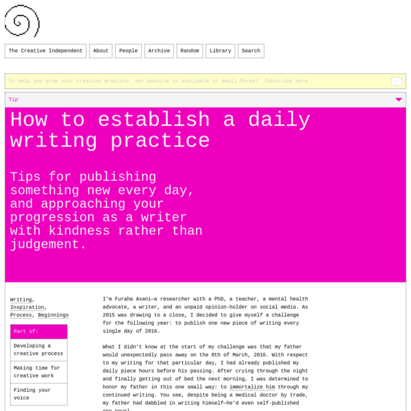 How to establish a daily writing practice – The Creative Independent