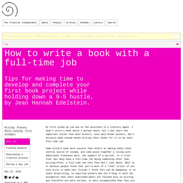 How to write a book with a full-time job – The Creative Independent