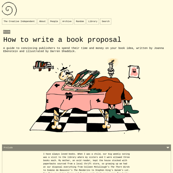 How to write a book proposal – The Creative Independent
