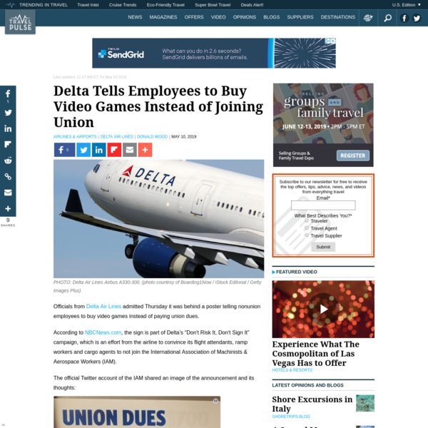 Delta Tells Employees to Buy Video Games Instead of Joining Union