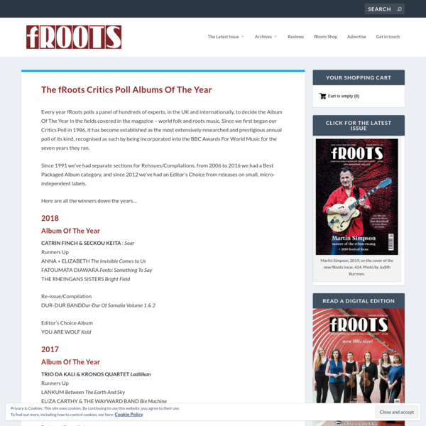 The fRoots Critics Poll Albums Of The Year - fRoots Magazine