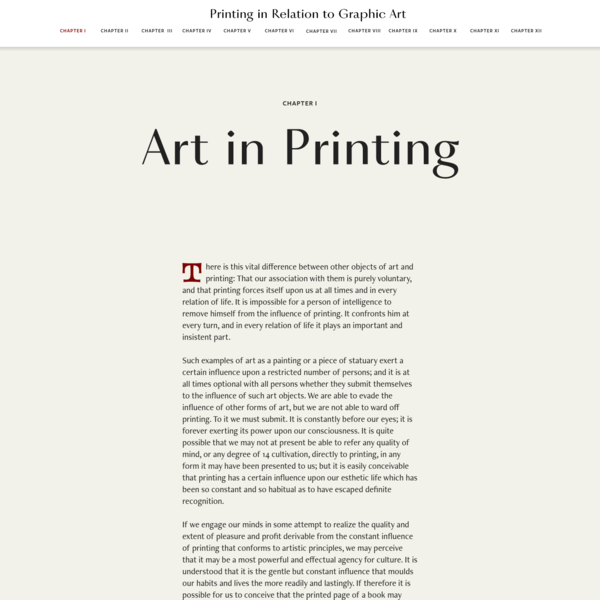Printing in Relation to Graphic Art by George French