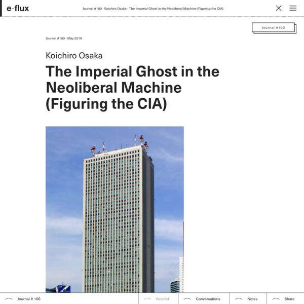 The Imperial Ghost in the Neoliberal Machine (Figuring the CIA)