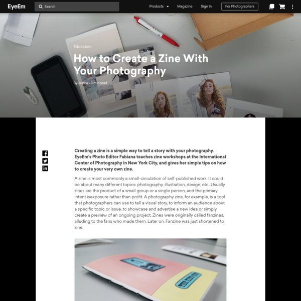 How to Create a Zine With Your Photography | EyeEm