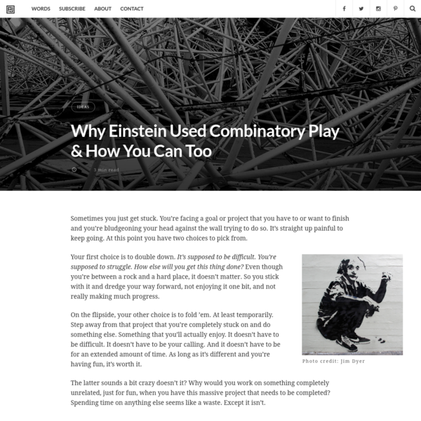 Why Einstein Used Combinatory Play & How You Can Too