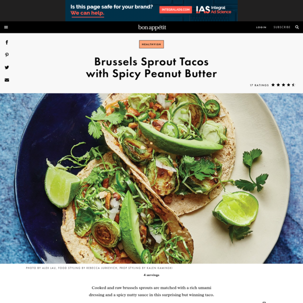 Brussels Sprout Tacos with Spicy Peanut Butter Recipe