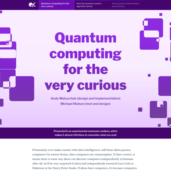 Quantum computing for the very curious