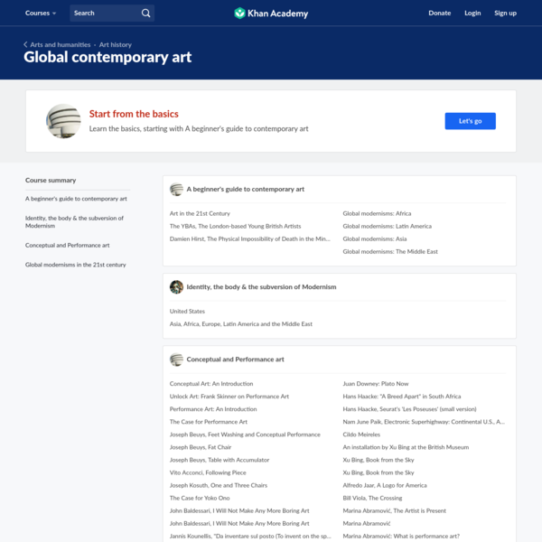 Global contemporary art | Arts and humanities | Khan Academy