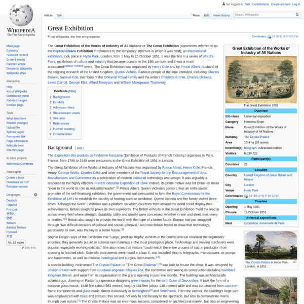 Great Exhibition - Wikipedia