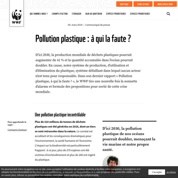 Pollution plastique : à qui la faute ? | WWF France