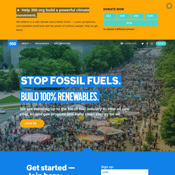 350.org: A global campaign to confront the climate crisis