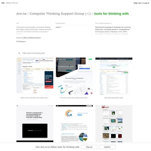 Are.na / tools for thinking with