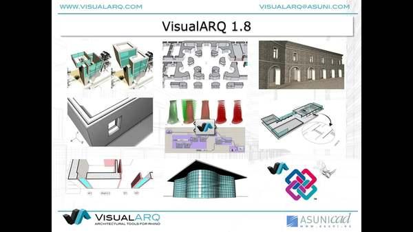 VisualARQ 1.8 Herramientas de Arquitectura BIM para Rhino