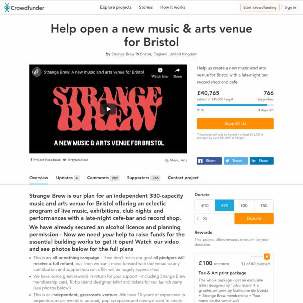 Help open a new music & arts venue for Bristol