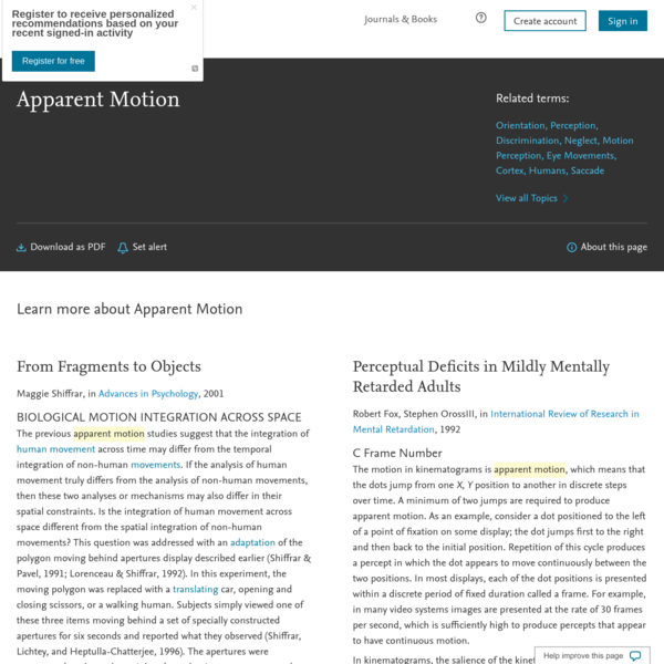 Apparent Motion - an overview   ScienceDirect Topics