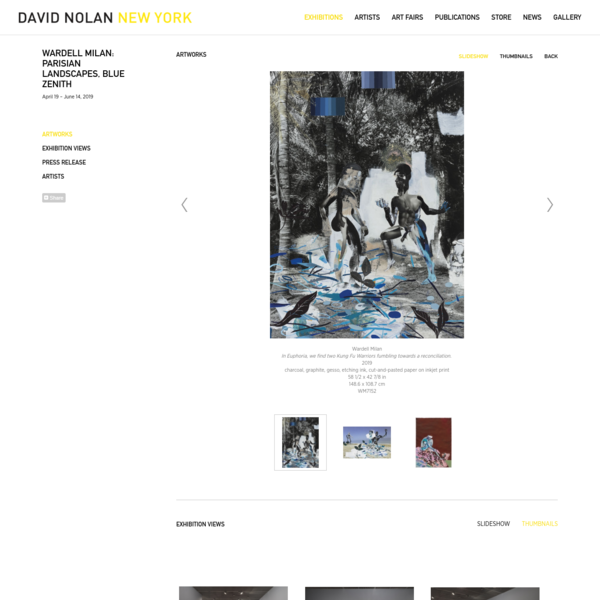 Wardell Milan: Parisian Landscapes, Blue Zenith - Exhibitions - David Nolan Gallery