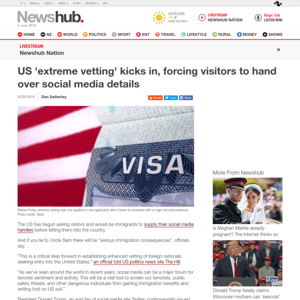 US 'extreme vetting' kicks in, forcing visitors to hand over social media details