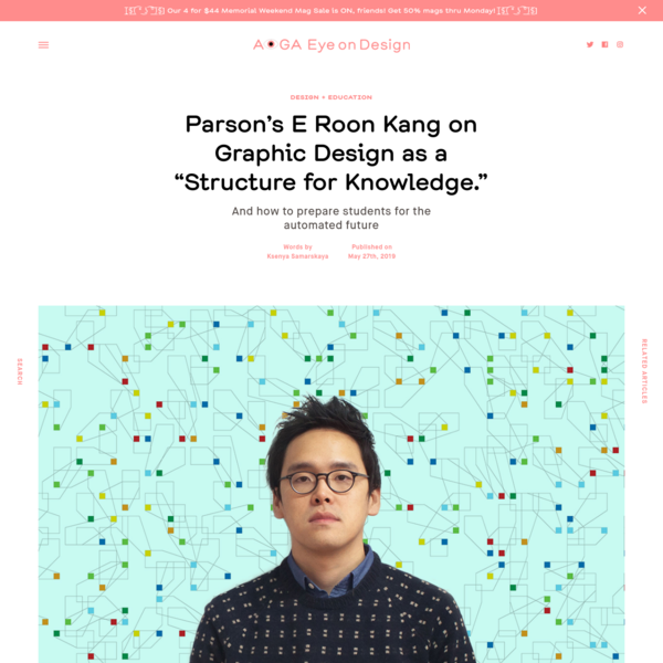 """Parsons' E Roon Kang on Graphic Design as a """"Structure for Knowledge."""""""