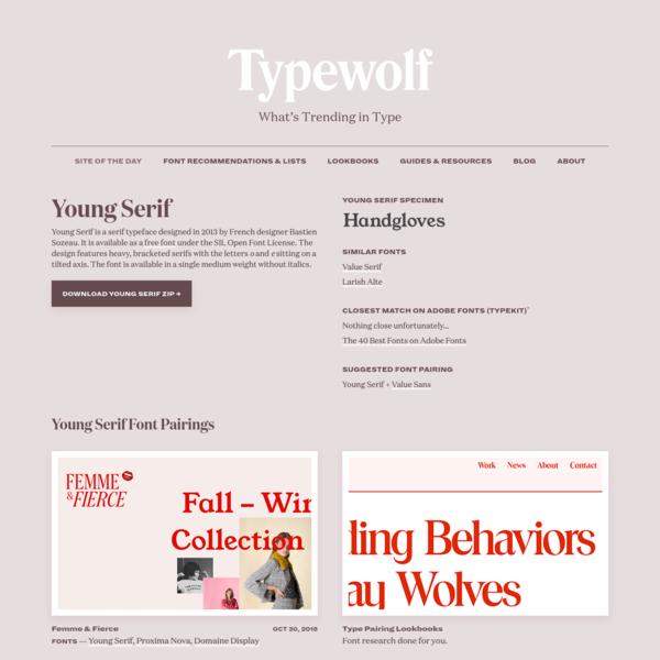 Young Serif Font Combinations & Similar Fonts · Typewolf