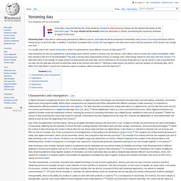 Streaming data - Wikipedia