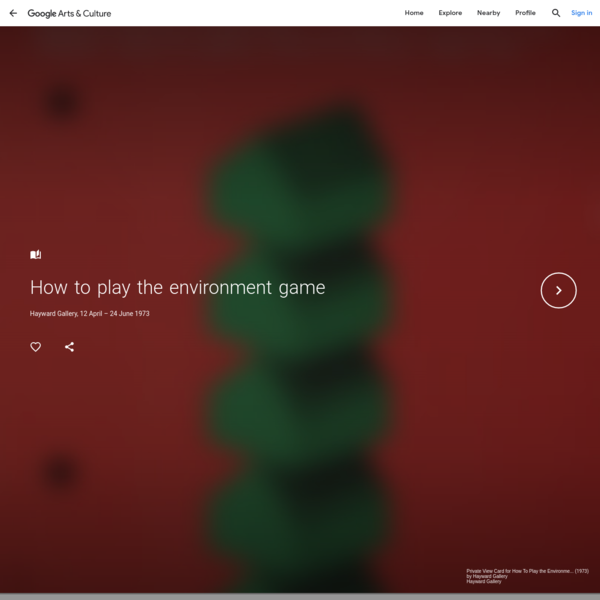 How to play the environment game - Google Arts & Culture