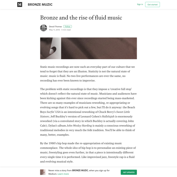 Bronze and the rise of fluid music