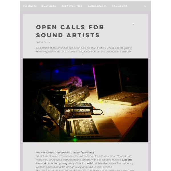 Post | HOME || LA COSA PREZIOSA sound artist | Soundscapes : field recording