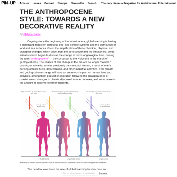 THE ANTHROPOCENE STYLE: Towards a New Decorative Reality