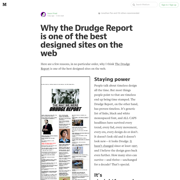 Why the Drudge Report is one of the best designed sites on the web