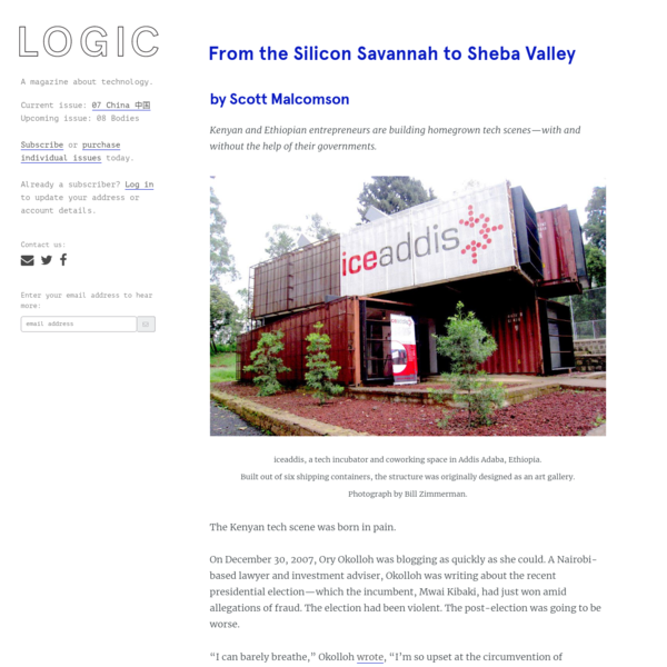 From the Silicon Savannah to Sheba Valley