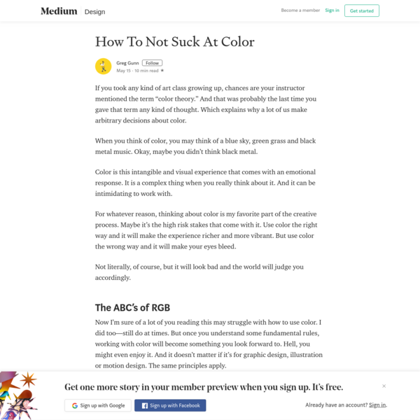 How To Not Suck At Color