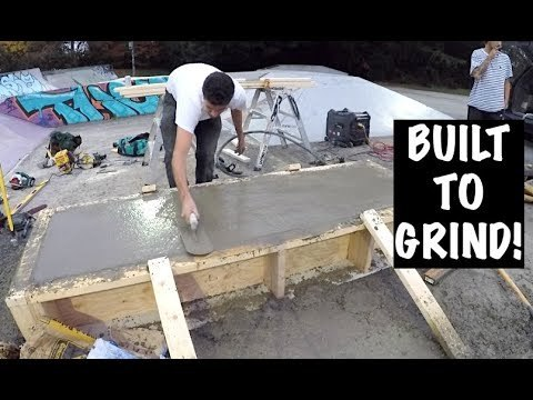 Building a Concrete Skateboard Ledge