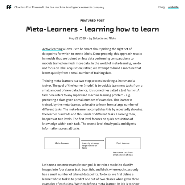 Meta-Learners - learning how to learn