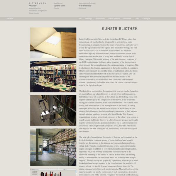Art Library :: RFID Technology :: Sitterwerk.ch