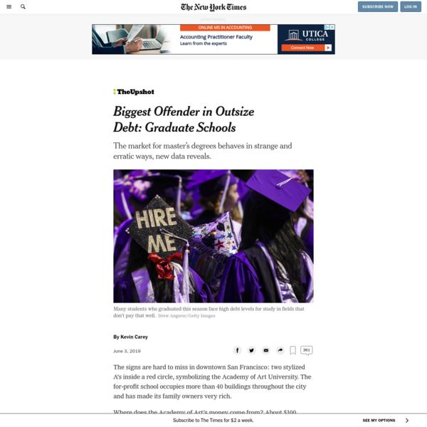Biggest Offender in Outsize Debt: Graduate Schools