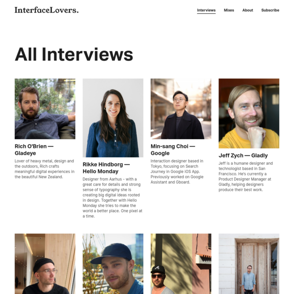 Interface Lovers | Interviews