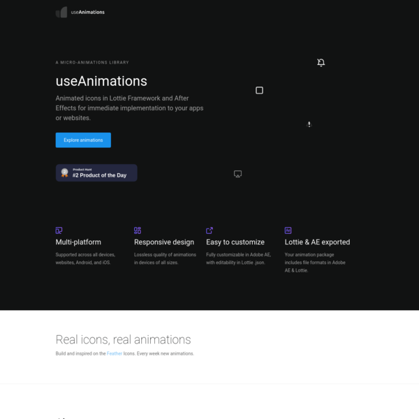 A micro-animations library