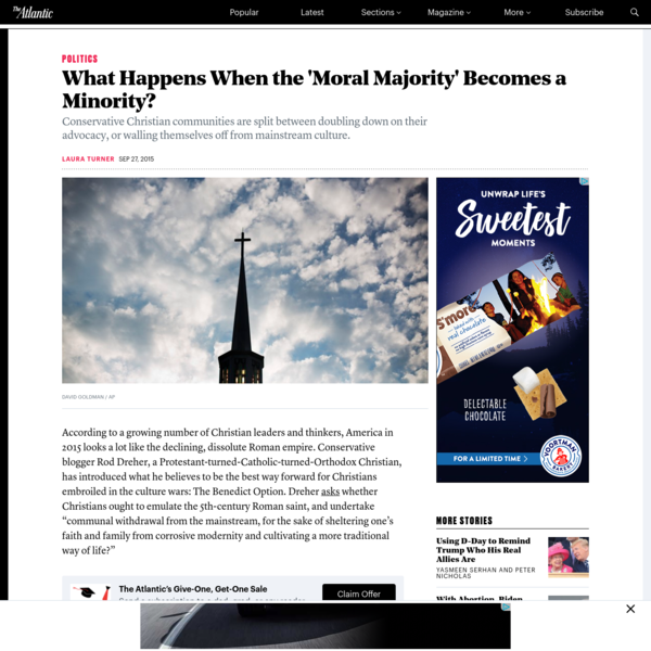 What Happens When the 'Moral Majority' Becomes a Minority?