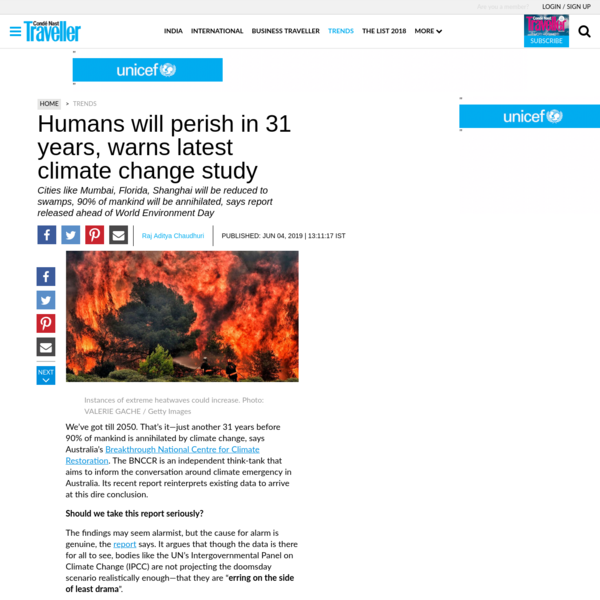 Humans will perish in 31 years, warns latest climate change study