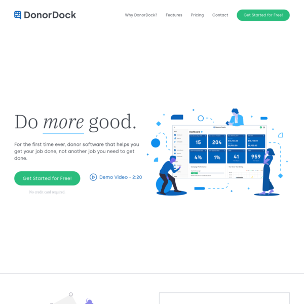 DonorDock - Do More Good & Discover Your Fundraising Flow