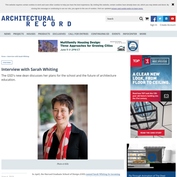 Interview with Sarah Whiting | 2019-06-04 | Architectural Record