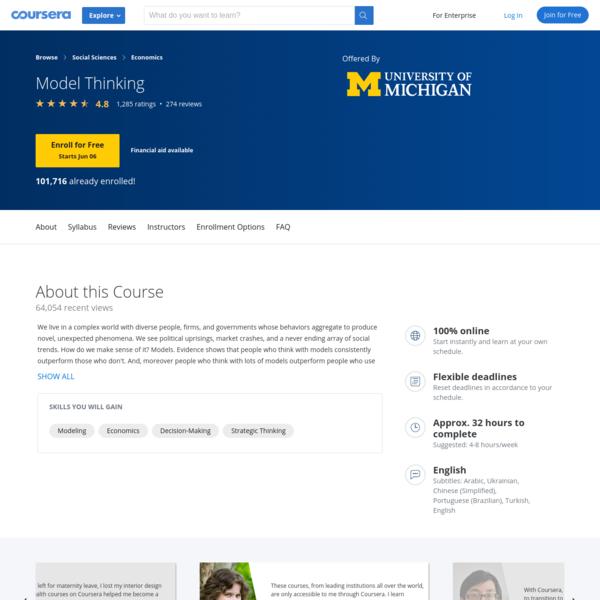 Model Thinking | Coursera