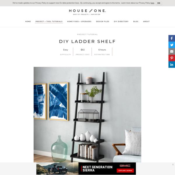 DIY Ladder Shelf - House One