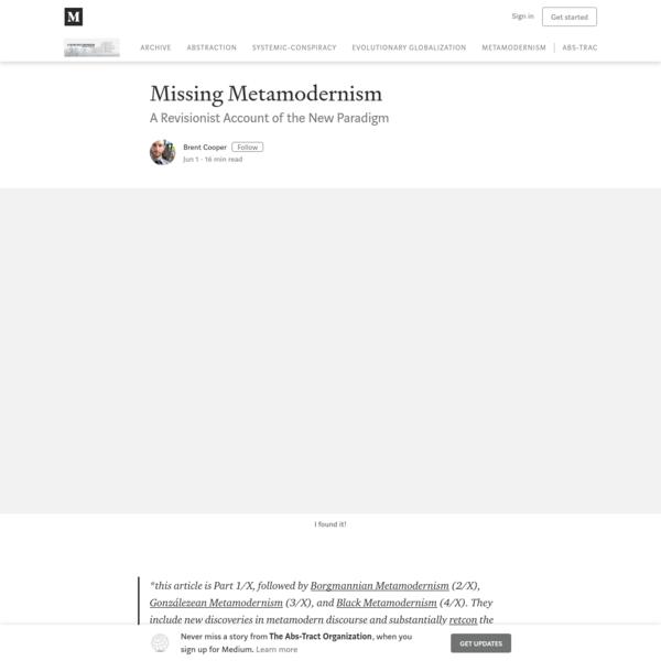 Missing Metamodernism